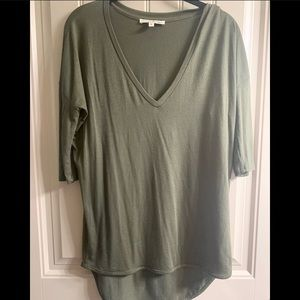 Express one eleven olive green tee